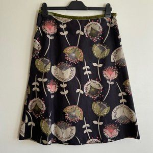 Laura Ashley Green Patterned Skirt
